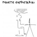 Piquete empresarial, el cómic. Segundo capítulo: esas reuniones el día de huelga