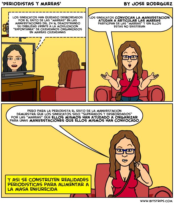 La dura vida de los currelas #12, Periodistas y mareas