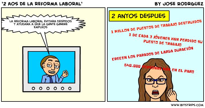 """La dura vida de los currelas #13, """"2 años de reforma laboral"""""""