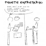 Piquete empresarial, el cómic. Primer capítulo: EREs, noticias y moralidad