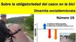 Dinamita socialdemócrata #17, el casco de la bicicleta