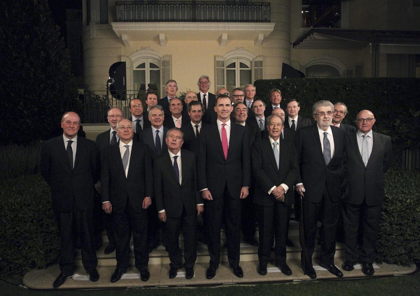 EL PRÍNCIPE CENA EN BARCELONA CON UN FORO DE EMPRESARIOS DE CATALUÑA Y MADRID