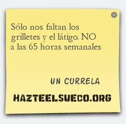 Ejemplo de Post-it reivindicativo que se puede crear con el aplicativo de la UGT de Catalunya