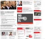 Soy portada en la web del PSOE
