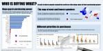 Infografia: diferentes prioriades en los gastos de consumo en el mundo
